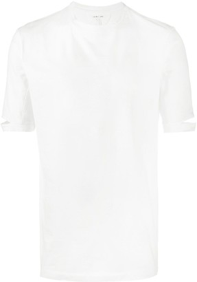 Helmut Lang cotton slash sleeve T-shirt