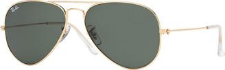 Ray-Ban Monochromatic Metal Aviator Sunglasses, Yellow Pattern