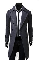 Yesimai Fashion Men Woolen Coat Winter Autumn Slim Double Breasted Overcoat Jacket Winter Coats (XL, )