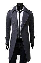 Yesimai Fashion Men Woolen Coat Winter Autumn Slim Double Breasted Overcoat Jacket Winter Coats (XXL, )