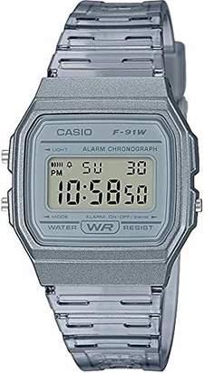 Casio Quartz Watch with Resin Strap Gray 20 (Model: F-91WS-8CF)