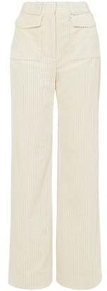 Victoria Victoria Beckham Cotton-corduroy Straight-leg Pants