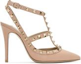 Valentino Pink Rockstud Cage Heels