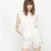 Maje Short lace guipure shorts