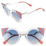 Fendi Women's 47Mm Cat Eye Sunglasses - Green