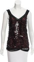 Alberta Ferretti Sleeveless Sequined Top