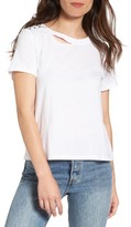 BP Women's Studded Ripped Baby Tee