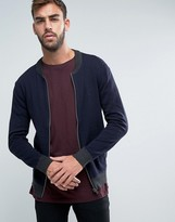 French Connection Zip Bomber Knitted Cardigan