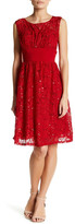 Sangria Sequined Lace Dress (Petite)