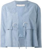 Drome lace-up jacket - women - Calf Leather/Acetate/Cupro - L