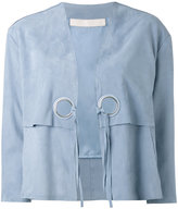 Drome lace-up jacket - women - Calf Leather/Acetate/Cupro - M