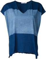 Rag & Bone Jean - colour block V neck top - women - Cotton - S