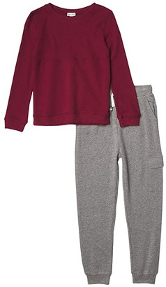Splendid Littles Thermal Mix Top Set (Toddler/Little Kids/Big Kids) (Bordeaux) Boy's Suits Sets