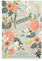 Rifle Paper Co. Mint Birch Monarch Ruled Notepad - Green