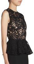 Saint Laurent Lace Top Peplum Dress
