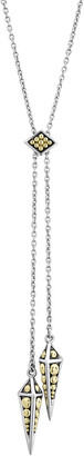 Lagos KSL 2-Tone Pyramid-Drop Lariat Necklace