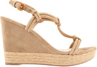 Prada Beige Suede Sandals