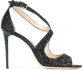 Jimmy Choo glittered Emily sandals - women - Calf Leather/Leather/PVC - 37