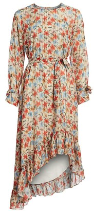 MUNTHE Know Floral Silk-Blend Ruffled High-Low Dress