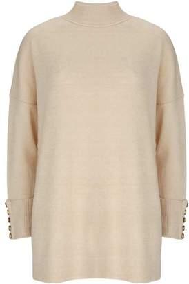 Mint Velvet Camel High Neck Knitted Tunic