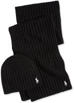 Polo Ralph Lauren Men's Hat & Scarf Gift Set