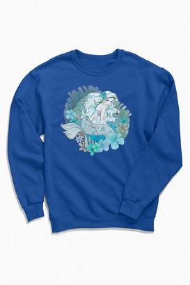 Urban Outfitters The Little Mermaid Ariel Crew Neck Sweatshirt