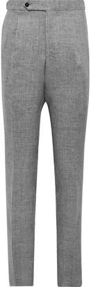 De Petrillo - Mergellina Slim-Fit Melange Linen Suit Trousers - Men - Gray