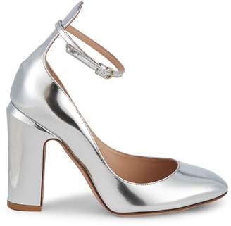 Stuart Weitzman Valentino Garavani Tango Metallic Leather Pumps