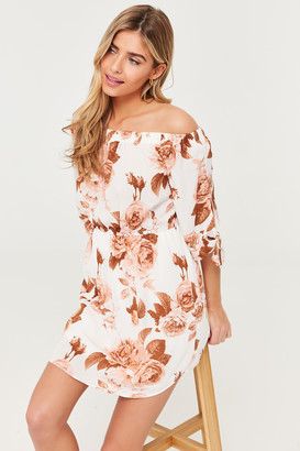 Ardene Off Shoulder Floral Mini Dress