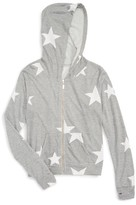 T2 Love Girl's Star Print Hooded Jacket