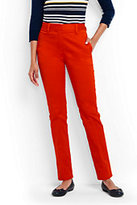 Lands' End Women's Petite Mid Rise Straight Leg Chino Pants-Sweet Persimmon