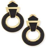 David Webb 18k Gold Ebony Doorknocker Earrings