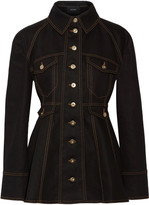 Ellery Bonnie Denim Peplum Jacket - Black