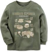 Carter's Dino Explorer Graphic-Print Shirt, Toddler Boys (2T-4T)