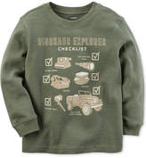 Carter's Dino Explorer Graphic-Print Shirt, Toddler Boys (2T-5T)