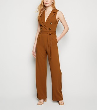 New Look Mela Military Collared Jumpsuit