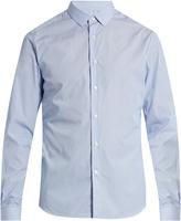 Valentino Button-cuff striped slim-fit shirt