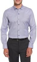 David Donahue Men's Microcheck Sport Shirt