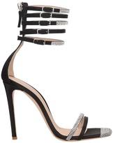 Sebastian Milano Sandals In Black Satin