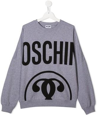 MOSCHINO BAMBINO TEEN logo-print sweatshirt