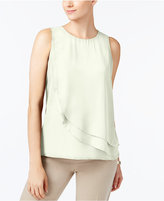 Charter Club Tiered Crew-Neck Shell, Created for Macy's