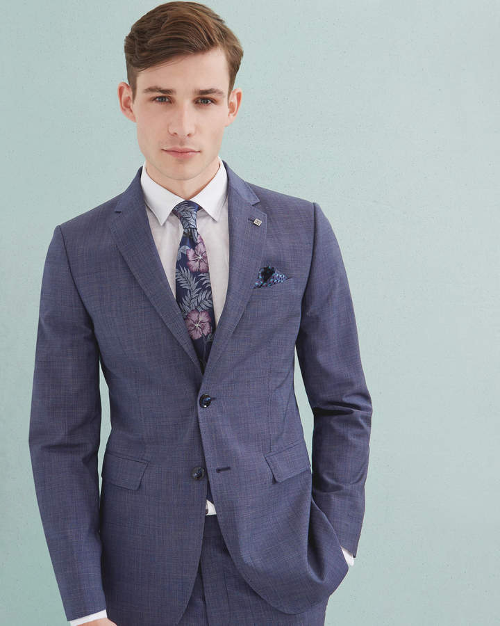 Ted Baker Debonair Modern Fit Wool Jacket Bright Blue