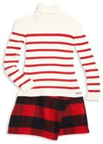 Junior Gaultier Toddler's, Little Girl's & Girl's Tricolore Mixed-Print Dress