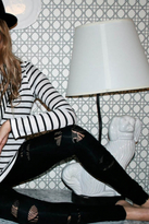 Nightcap Clothing Peek-A-Boo Tights in Black