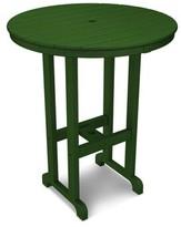 "Hunter Polywoodâ® La Casa CafA Bar Table POLYWOODA Color Green, Table Size: 36"""