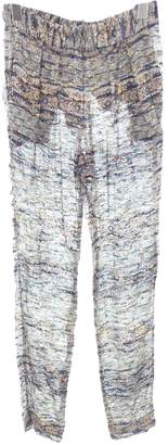 Isabel Marant Blue Silk Trousers