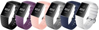 Posh Tech Small Fitbit Charge 3 Silicone Band - Pack of 6