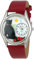 Whimsical Watches Women's S0120009 Basking Cat Yellow Leather Watch