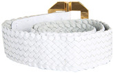 "Vince Camuto 1 1/2"" Centerbar Buckle On Woven Stretch"