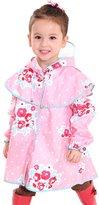 MW WM Girls' Raincoat, Princess Floral Style Sweet / Yellow (S, )